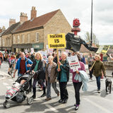 Anti-Fracking mars - Malton - Ryedale - Yortkshire du nord - le R-U Photos libres de droits