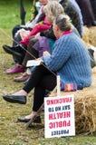 Anti-Fracking mars - Malton - Ryedale - Yortkshire du nord - le R-U Images libres de droits