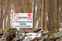 Anti fracking sign upstate NY Royalty Free Stock Photos