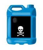 Anti-freeze bottle blue Stock Photography