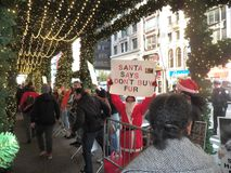 Anti fur protest Lord and Taylor New York City. Stock Images