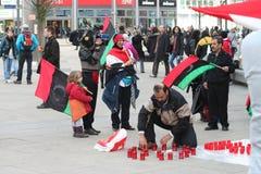 anti gaddafipersoner som protesterar Arkivbilder