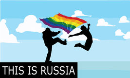 Anti gay. In Russia god hate gay people Royalty Free Stock Images