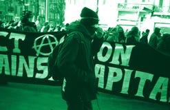 Anti-globalist protesta Fotografia Stock Libera da Diritti