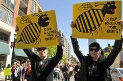 Anti GMO rally. Stock Photo