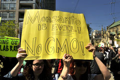 Anti GMO rally. Royalty Free Stock Photography