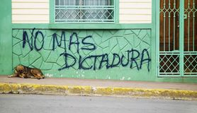 Anti government graffiti in Nicaragua Royalty Free Stock Image