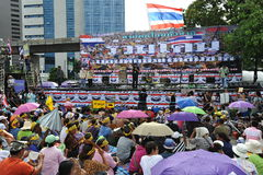Anti-Government People's Army Group Rally in Bangkok. Several thousand protesters attend an anti-government rally at Lumpini Park on August 4, 2013 in Bangkok Royalty Free Stock Photo