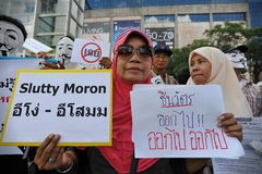 Anti-Government Protest in Bangkok Stock Images