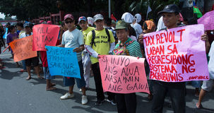 Anti-government protest, Manila, Philippines Stock Image