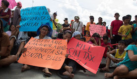 Anti-government protest, Manila, Philippines Stock Photos