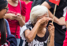 Anti-government protest during the 150th birthdate of Andres Bonifacio Stock Photos