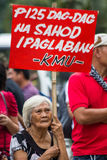 Anti-government protest during the 150th birthdate of Andres Bonifacio Stock Photography