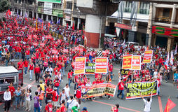Anti-government protest during the 150th birthdate of Andres Bonifacio Stock Images