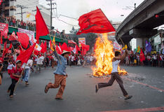 Anti-government protest during the 150th birthdate of Andres Bonifacio Royalty Free Stock Photography
