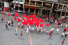 Anti-government protest during the 150th birthdate of Andres Bonifacio Royalty Free Stock Photos