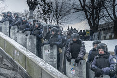 Anti-Government Protest in Ukraine Stock Images