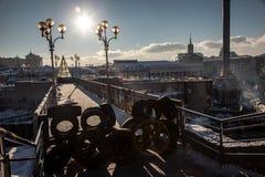 Anti-government protestenuitbarsting de Oekraïne stock fotografie