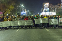 Anti government protesters in Bucharest Stock Image