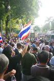 Anti-government protesters to blockade the Royal Thai Police Royalty Free Stock Image