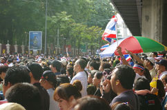 Anti-government protesters to blockade the Royal Thai Police Stock Image
