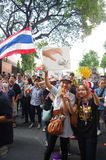 Anti-government protesters to blockade the Royal Thai Police Stock Photography