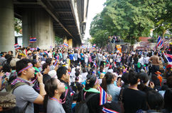 Anti-government protesters to blockade the Royal Thai Police Royalty Free Stock Photos
