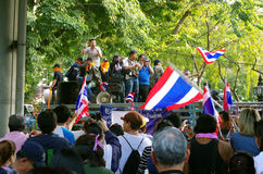 Anti-government protesters to blockade the Royal Thai Police Stock Images
