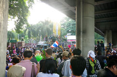 Anti-government protesters to blockade the Royal Thai Police Royalty Free Stock Photography