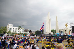 Anti-government protesters to the Democracy Monument on November 9, 2013 Stock Photography