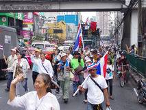 Anti-government protesters to the Democracy Monument. The protest Against The Amnesty bill in Pra Stock Photography