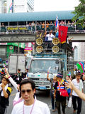 Anti-government protesters to the Democracy Monument. The protest Against The Amnesty bill in Pra Royalty Free Stock Images