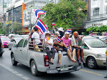 Anti-government protesters to the Democracy Monument. The protest Against The Amnesty bill in Pra Stock Image