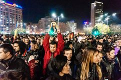 Anti government protests in Bucharest Stock Image