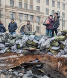 Anti-government protests in the center of Kiev Stock Photos