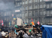 Anti-government protests in the center of Kiev Royalty Free Stock Photography