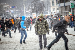 Anti-government protests outbreak Ukraine Stock Photo