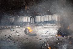 Anti-government protests outbreak Ukraine Royalty Free Stock Photo