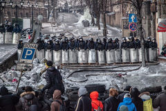 Anti-government protests outbreak Ukraine Stock Images