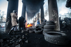 Anti-government protests outbreak Ukraine Stock Image
