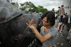 Anti-Government Rally in Bangkok Royalty Free Stock Image