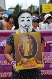 Anti-Government Rally. Protesters stage an anti-government rally in Bangkoks shopping district on August 18, 2013 in Bangkok, Thailand. Several hundred Royalty Free Stock Photo