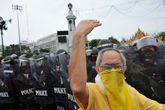 Anti-Government Verzameling in Bangkok Stock Afbeelding