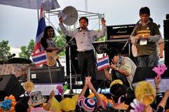 Anti-Government Verzameling van Siam van Pitak in Bangkok, Thailand Stock Foto