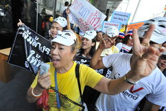 Anti-Government 'White Mask' Protest in Bangkok Stock Photos
