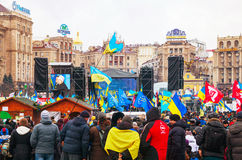 Anti-governmental protests in Kiev, Ukraine Royalty Free Stock Photos