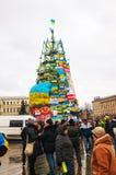 Anti-governmental protests in Kiev, Ukraine. KIEV, UKRAINE - DECEMBER 07: Anti-governmental protests on December 7, 2013 in Kiev, Ukraine. The protests were Stock Photo
