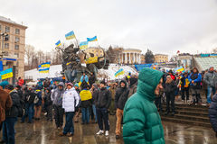 Anti-governmental protests in Kiev, Ukraine Royalty Free Stock Images