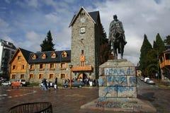 Anti graffiti di Kirchner in San Carlos de Bariloche fotografie stock libere da diritti