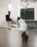 Anti Gravity Yoga Stock Image